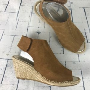MAYPOL QUAI Suede Leather Peep Toe Espadrille